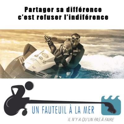 Unser Partner: Un fauteuil à la mer (mit dem Rollstuhl ins Meer)