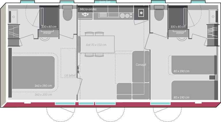 Gestaltung Mobilhaus Îles d'Or®