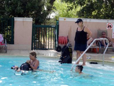 Beheiztes Schwimmbad Tauchtaufe Ferien