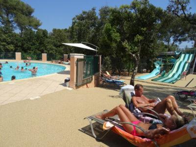 Camping Côte d'Azur Wasserpark Beheizte Schwimmbäder Transat Entspannung Ferien