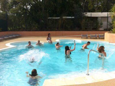 Côte d'Azur Beheiztes Schwimmbad Solarium Whirlpool Spa Planschbecken Großes Schwimmbecken