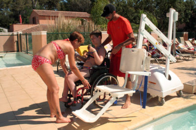 Barrierefreier Campingplatz mit Wasserparadies für Menschen mit Handicap am Mittelmeer