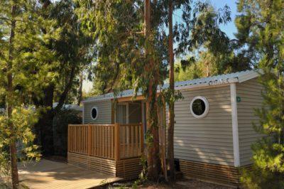 Hochwertiges Mobilhaus auf einem naturnahen Campingplatz