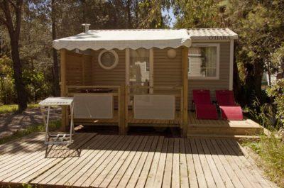 Hochwertiges und komfortables Mobilhaus mit Klimaanlage und viel Platz
