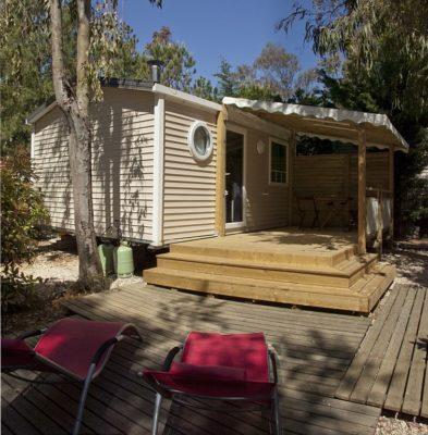 Mietobjekt: Mobilhaus mit Klimaanlage - Campingplatz bei Porquerolles