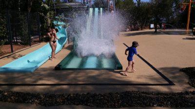 Wasserrutschbahn Wasserspiele Beheiztes Schwimmbad