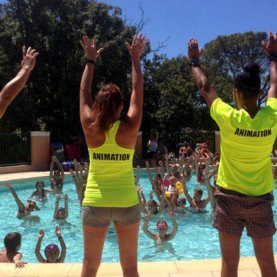 Camping mit Jugendlichen und Erwachsenen Unterhaltung im Var