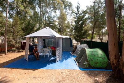 Stellplätze für Zelte auf dem Campingplatz 'Les Jardins de La Pascalinette®' (Provence)