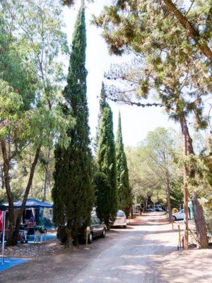 Stellplätze für Wohnwagen auf einem umweltfreundlichen Campingplatz – Côte d'Azur