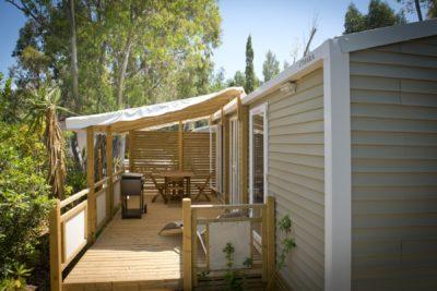 Mietobjekt: hochwertiges Mobilhaus auf einem Campingplatz mit Strandnähe in Südfrankreich