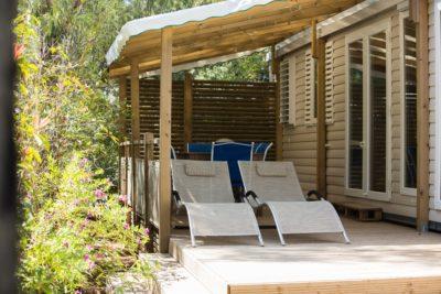 Ganz hochwertiges Mobilhaus auf einem Campingplatz**** in Südfrankreich