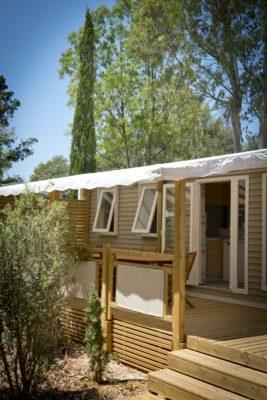 Hochwertiges Mobilhaus mit Klimaanlage für 6 Personen in Strandnähe