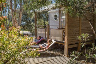 Mobilhaus der Luxusklasse für komfortable Ferien in Le Lavandou