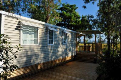 Mobilhaus mit Klimaanlage für Ferien mit einer grossen Familie