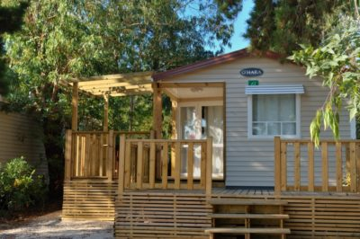 Mobilhaus der Luxusklasse mit 3 Schlafzimmern auf einem Campingplatz an der Côte d'Azur