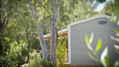 Grosses familienfreundliches Mobilhaus mit Klimaanlage – 6 Personen