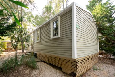 Preisgünstiges Mobilhaus auf einem Campingplatz - Ferien
