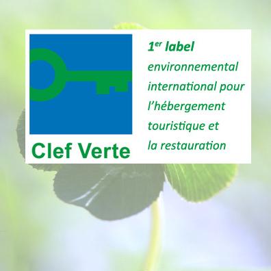 Der Campingplatz führt das Label « Clef Verte » (grüner Schlüssel)