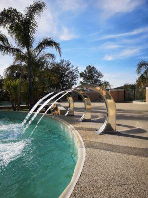 Hyères Strand Beheizter Pool Massagedusche Entspannung Ferien