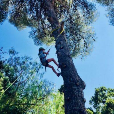 Klettern ist eine naturnahe Aktivität für Kinder in Hyères