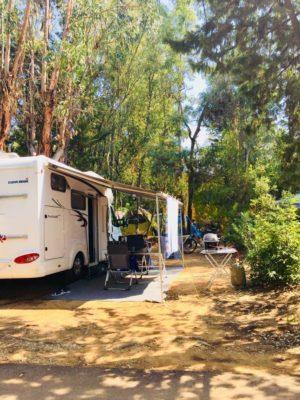 Campingplatz in Südfrankreich – Stellplatz für ein Wohnmobil