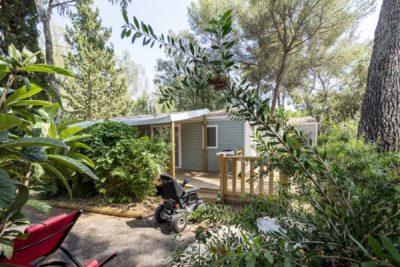 Mietobjekt: barrierefreies Mobilhaus auf einem barrierefreien und ökologisch sinnvoll geführten Campingplatz