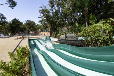 Schwimmbad Rutsche Familie Wasserpark Animation