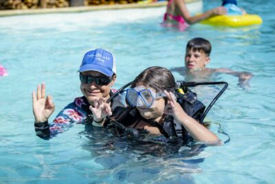 Camping Beheiztes Schwimmbad Tauchen Kinder