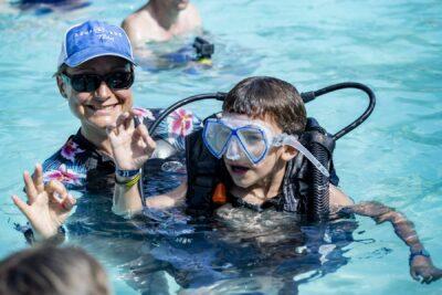 Schwimmbad Tauchen Ferien Familie