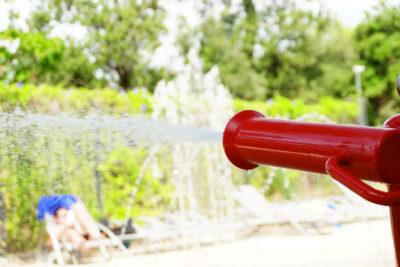 Wasserspiele Schwimmbäder Kinder Ferien