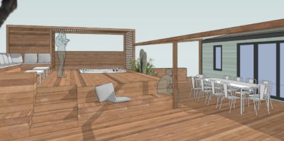 Aperitif auf der Terrasse von 'La Villa des Copains'® in der Provence