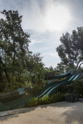 Küste Wasserpark Rutschbahn Kinderanimation