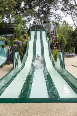 Bormes-les-Mimosas Wasserpark Rutschbahn Ferien Wasserspiele