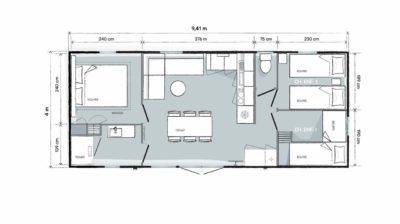 Ein neues Konzept: eine Villa im Herzen vom Campingplatz****