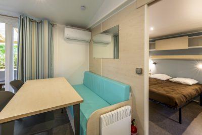 Mietobjekt: barrierefreies Mobilhaus für Menschen mit Handicap auf einem Campingplatz in Südfrankreich