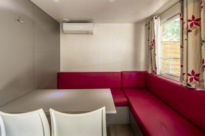 Mobilhaus der Luxusklasse mit Klimaanlage an der Côte d'Azur