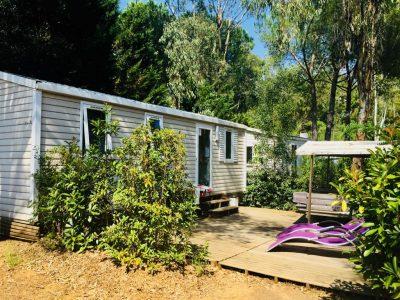 Mobilhaus mit Klimaanlage und 2 Schlafzimmern für 4 Personen