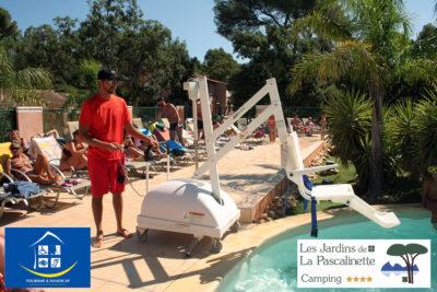 Campingplatz mit barrierefreiem Pool für körperlich behinderte Menschen in Hyères