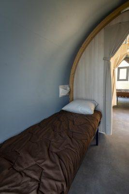Familienferien in einem eingerichteten Zelt auf einem Campingplatz**** mit allem Komfort