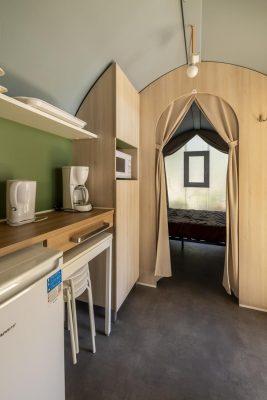 Mietobjekt: eingerichtetes Zelt in Südfrankreich – Ferien mit allem Komfort