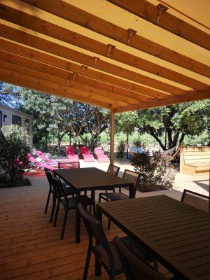 Ganz hochwertige Villa der Luxusklasse für 10 Personen auf einem Campingplatz in Hyères