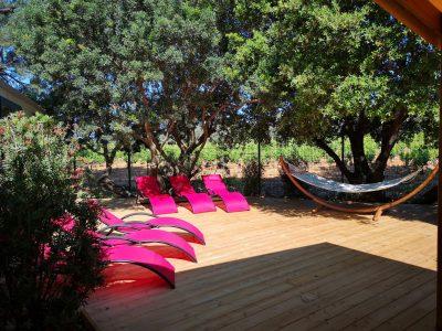 Ferienhaus der Luxusklasse, Villa mit Whirlpool auf einem Campingplatz in Frankreich - Wasserparadies