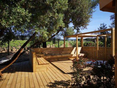 Mietobjekt: Luxusvilla mit Whirlpool zusammen mit Freunden auf einem Campingplatz in Hyères