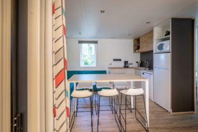 Küche der Ferienvilla - Ferien in Südfrankreich - Mobilhaus 1