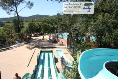 Camping Bormes-les-Mimosas Wasserpark Beheiztes Schwimmbad Solarium Jacuzzi Spa